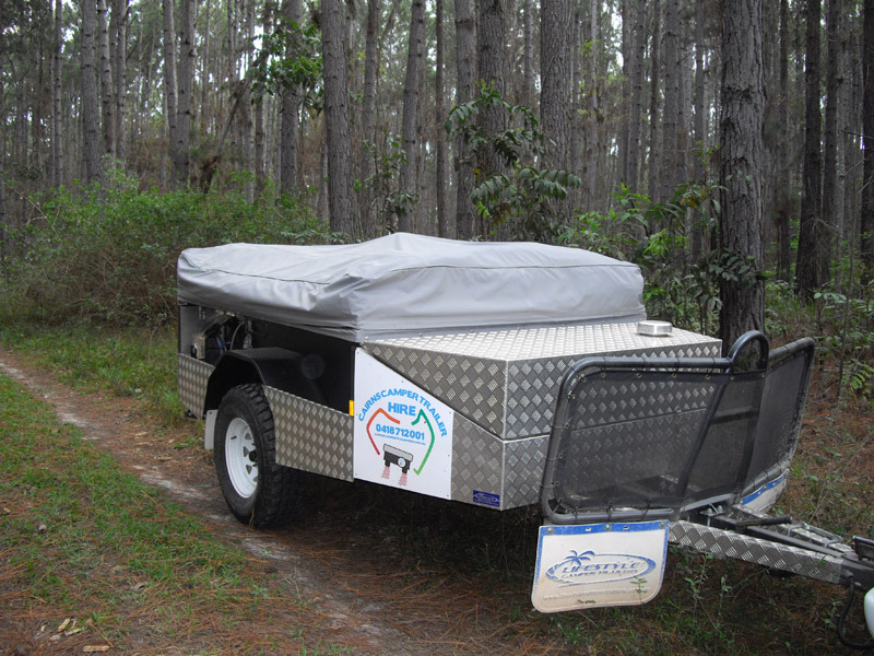 Simple 12 DAY OFF Road Camper Trailer Hire Rental Cairns TO Cape York QLD In